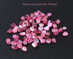 Турмалин, розовый, галтовка, 9-3+- мм