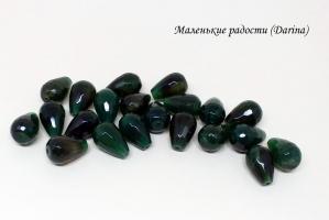 Бусина Хризопраз (халцедон) граненая капля 20х14+- мм