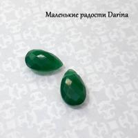 Бусина Хризопраз (халцедон) граненый панделок 14-15 мм, пара