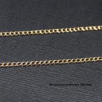 Цепочка, золотистый, родиевое покрытие, 3,3х2,2 мм, 1 м