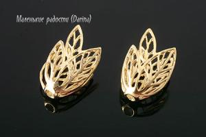 Шапочка, Gold Plated, 14х9,5 мм