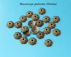 Шапочка, бронзовый, 13х3 мм