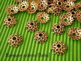 Шапочка, золотистый, 10х3 мм 1