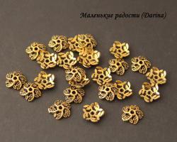 Шапочка, золотистый, 10х3 мм 3