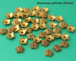 Шапочка, золотистый, 10х3 мм 5