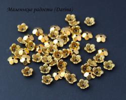 Шапочка, золотистый, 10х3 мм 6