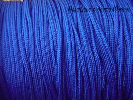 Шнур, шамбала, 0,8 мм, синий, 1 м