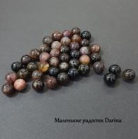 Бусина Турмалин гладкий шар 8,6 мм