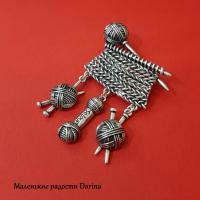 Брошь Для любителей вязания*