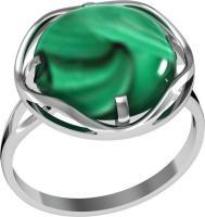 Кольцо Малахит 17,5 размер