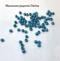 Бусина Бирюза граненый шар 3 мм