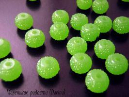 "Бусина конфетка, зеленый, 10х8 мм"""""