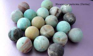 Бусина Амазонит гладкий матовый шар 20 мм