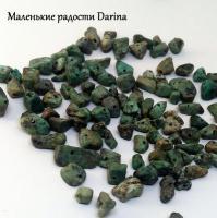 Бусина Амазонит крошка 12-3+- мм