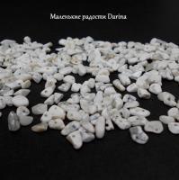 Бусина Кахолонг белый крошка 11-2+- мм