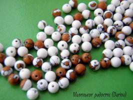 Бусина Кахолонг гладкий шар 4 мм