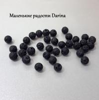 Бусина Лава черный шар 6 мм