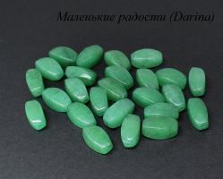 Бусина Нефрит пигментный зеленый крученый бочонок 16х8 мм