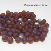 Бусина Опал синтетический коричневый матовый шар 10 мм