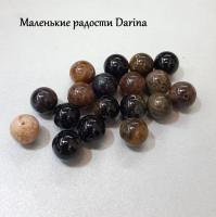 Бусина Турмалин гладкий шар 9,5-10 мм