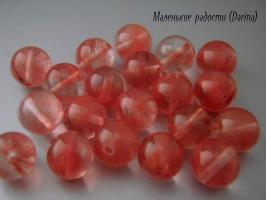Бусина Халцедон (кварц черри) гладкий шар 10 мм