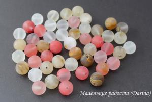 Бусина Халцедон гладкий матовый шар 10,5+- мм
