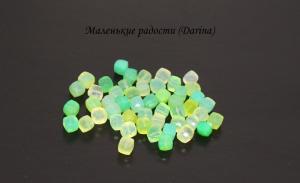 Бусина Халцедон зеленый граненый куб 6-7,5+- мм