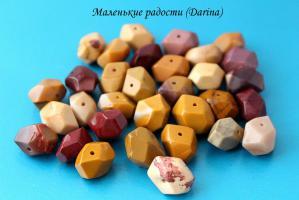 Бусина Яшма австралийская (мукаит) граненые бусины 17-10+- мм