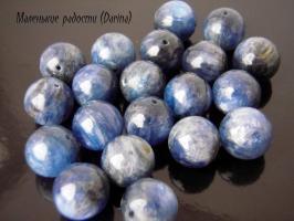 Бусина Кианит гладкий шар 11 мм