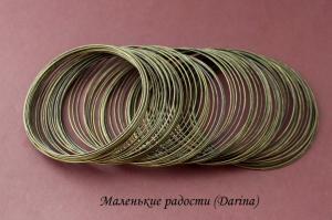 Мемори проволока для браслетов, бронзовый, 0,6 мм, 6 см, 1 виток