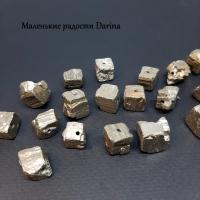 Бусина Пирит кусочки  13-7+- мм