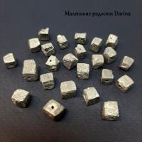Бусина Пирит кусочки 10-7+- мм