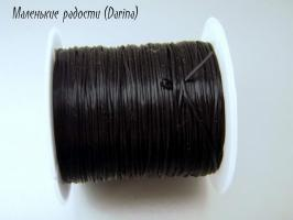 Резинка для браслетов, черная, 0,6 мм, 1 м