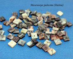 Бусина Родонит чипсы 8х3+- мм